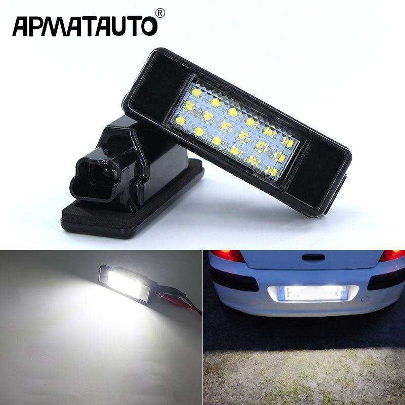 Canbus luz de placa de licencia para Citroen C2 C3 C4 C5 C6 C8 DS3 para Peugeot 106, 1007, 207, 307, 3008, 406, 407, 607 de la licencia de lámpara con forma de número