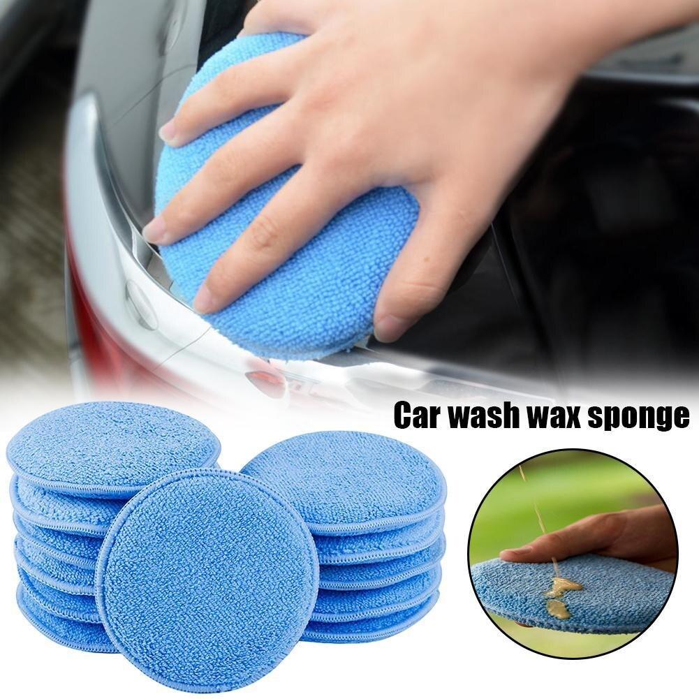 esponja aplicador almofadas esponja veiculo espuma cera 02