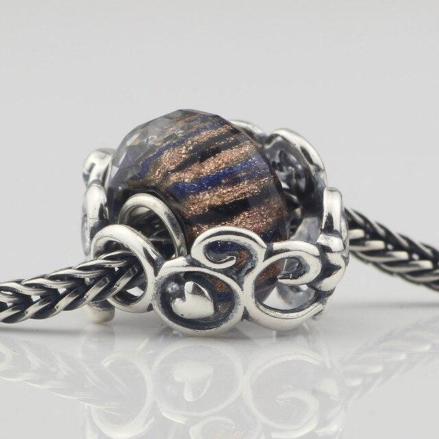 Perles chasseur 925 argent Sterling Secret jardin mère jardin breloque perle seulement adapté européen Troll Bracelet bijoux non inclus B