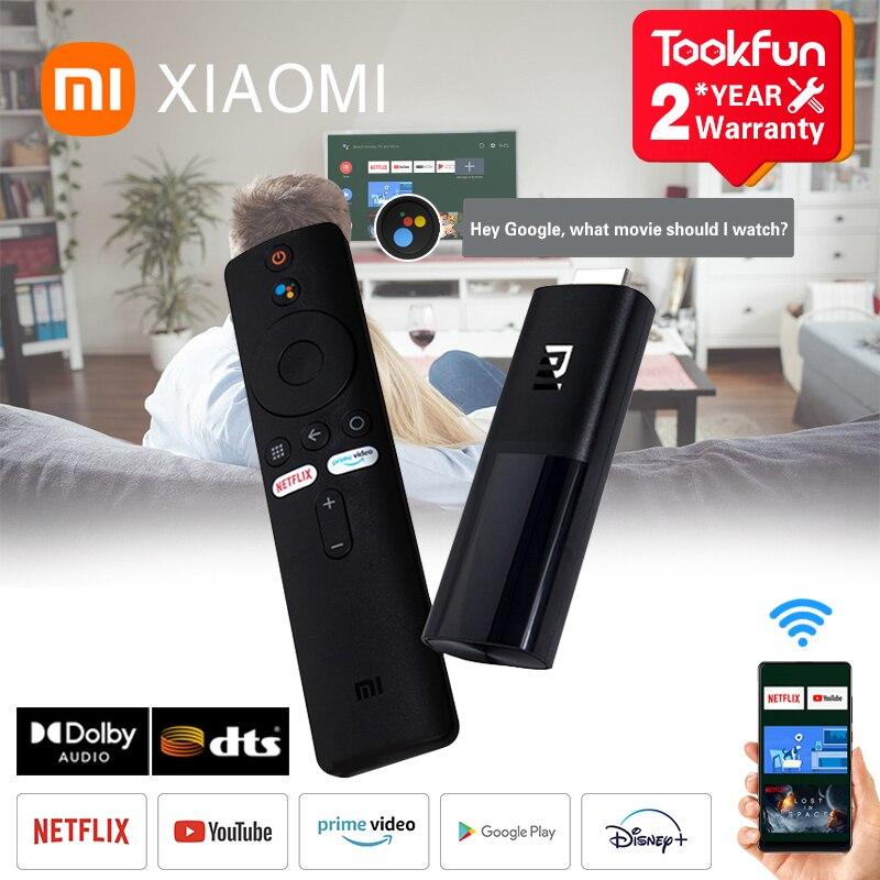 Глобальная версия Xiaomi Mi TV Stick Android 9,0 1080P HD 1 ГБ ОЗУ 8 Гб ПЗУ DTS Dolby Смарт Netflix YouTube Wi-Fi и Google Assistant