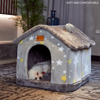dog bed house four seasons universal enclosed house small dog teddy removable bed cat house winter warm pet supplies Dog Bed House Winter Warm Small Dog Teddy Cat Bed All Seasons Universal Removable and Washable Dog House Bed Pet Supplie