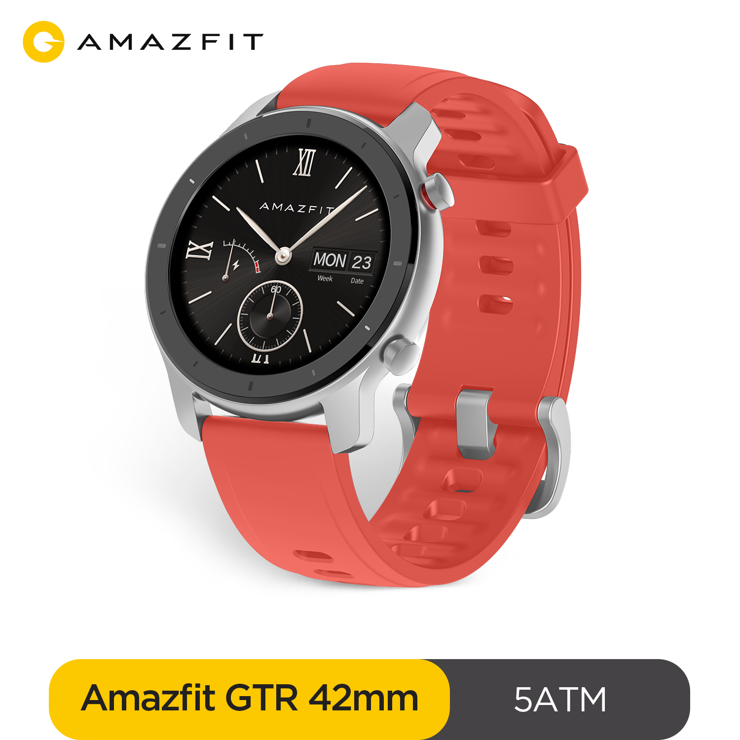 Склад в России Global Version Amazfit GTR 42mm Smart Watch 5ATM Smartwatch 12Days Battery Music Control For Xiaomi Android IOS