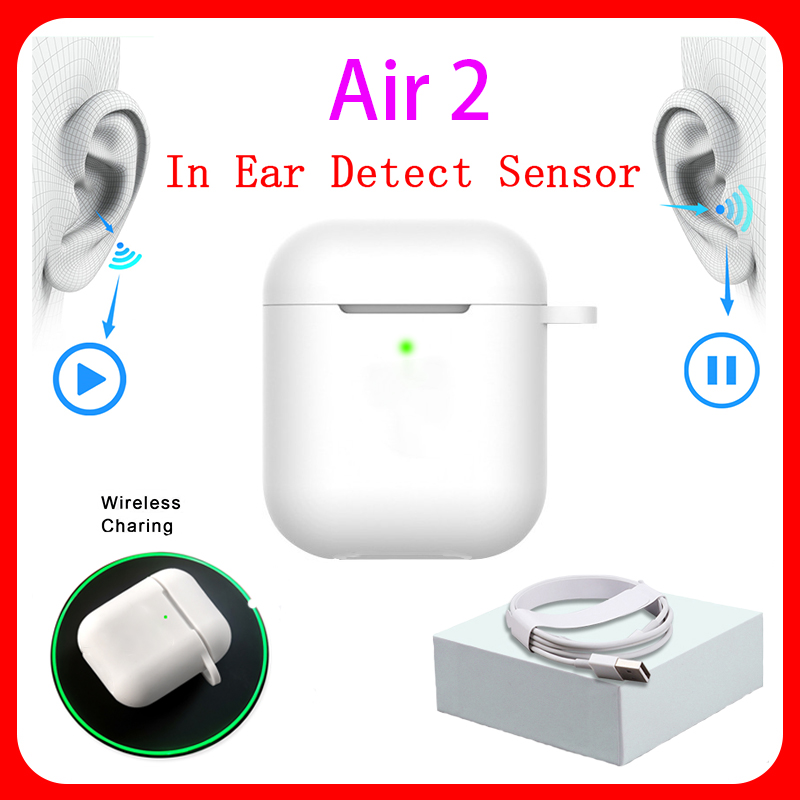 New <font><b>Original</b></font> Aire 2 <font><b>TWS</b></font> 1:1 In-ear H1 Blutooth Earphone Mini Wireless Earbud Headphone Aire2 Headset PK W1 H1 Chip elari Kulakli image