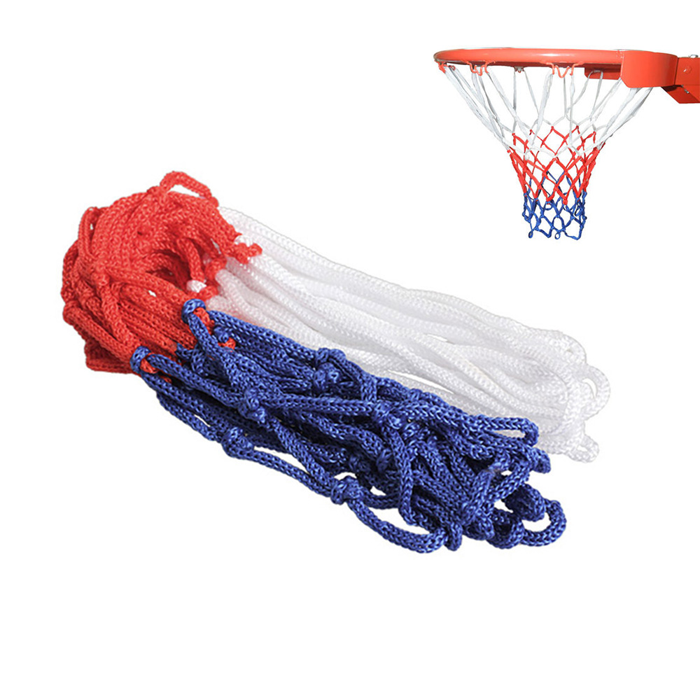 3MM Basketball Rim Mesh Net Durable Basketball Net Heavy Duty Nylon Net Hoop Goal Rim Mesh Fits Standard Basketball Rims