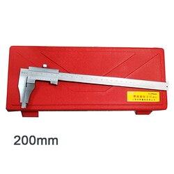 0-200mm Steel Vernier Caliper with 60mm long jaw Metal Calipers Gauge Micrometer Pie De Rey Paquimetro Measuring Tool
