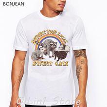 support your local street cats animal print t-shirt men funny t shirts camisetas hombre tumblr tops tee shirt homme streetwear цена и фото