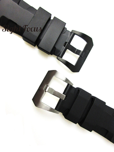Image 5 - 24mm 26mm Dive Watch Bands for PAM Rubber Silicone Strap Pre V buckle Wrist Watch Bracelets Sport Band Div Watch Straps Orologio