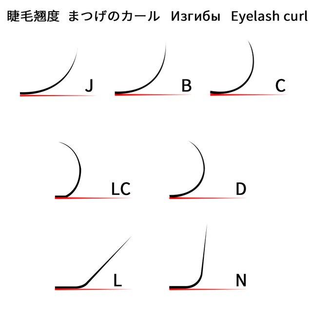NAGARAKU 16rows 7~25mm mix premium natural synthetic mink individual eyelash extension maquiagem cilios makeup tool 4