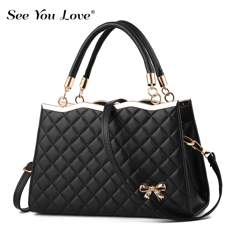 New Fashion Ladies Crossbody Bags For Women 2019 Plaid Flap Zipper Female Handbags  Luxury Brand Women Shoulder Messenger Bags-in Shoulder Bags from Luggage & Bags