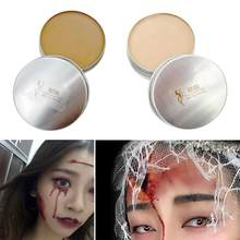 Halloween Face Painting Scars Wrist Cosplay Flesh Color Cover Eyebrows Mud Skin Wax Shaping Special Effects Body Makeup 15gTSLM2(China)