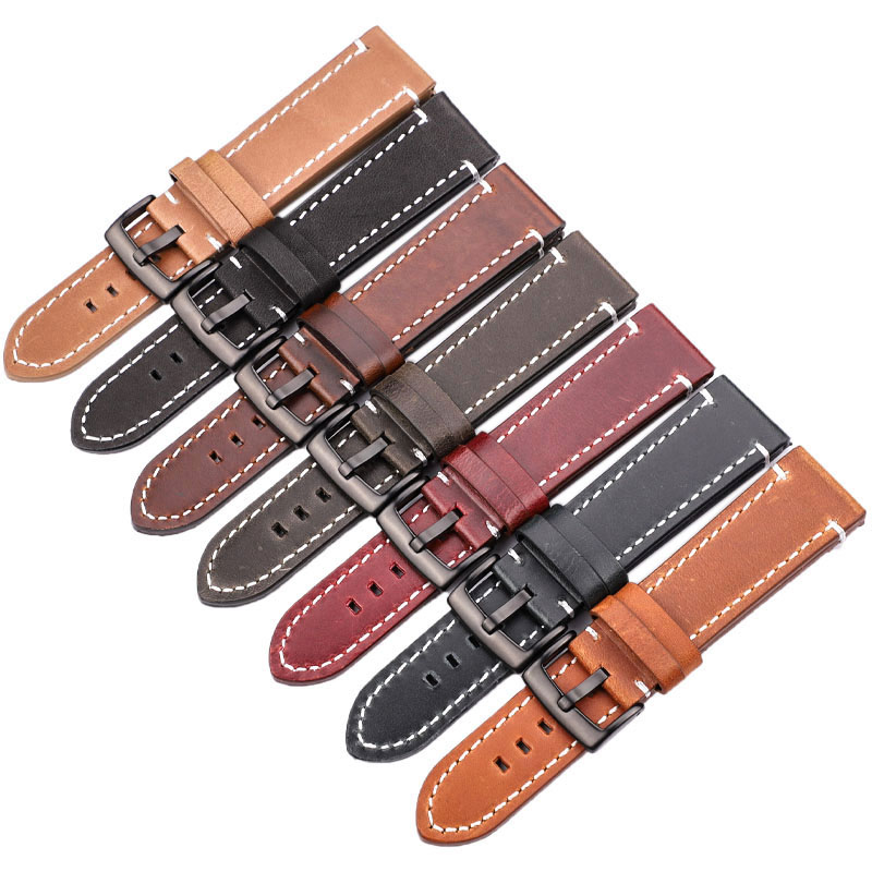 HENGRC Lo nuevo 18mm 20mm 22mm Correa de reloj de cuero genuino - Accesorios para relojes - foto 2