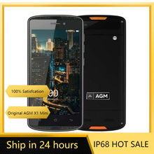 AGM X1 Mini 4G LTE akıllı telefon 4000mAh IP68 su geçirmez Android 5.0