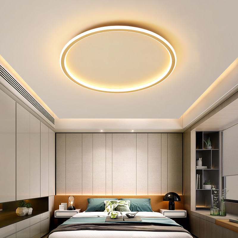 Ultra-thin LED Ceiling Light Gold Round Square Rectangular Ceiling Lamps For Modern Living Room Kitchen Surface Mount Panel Lamp 1