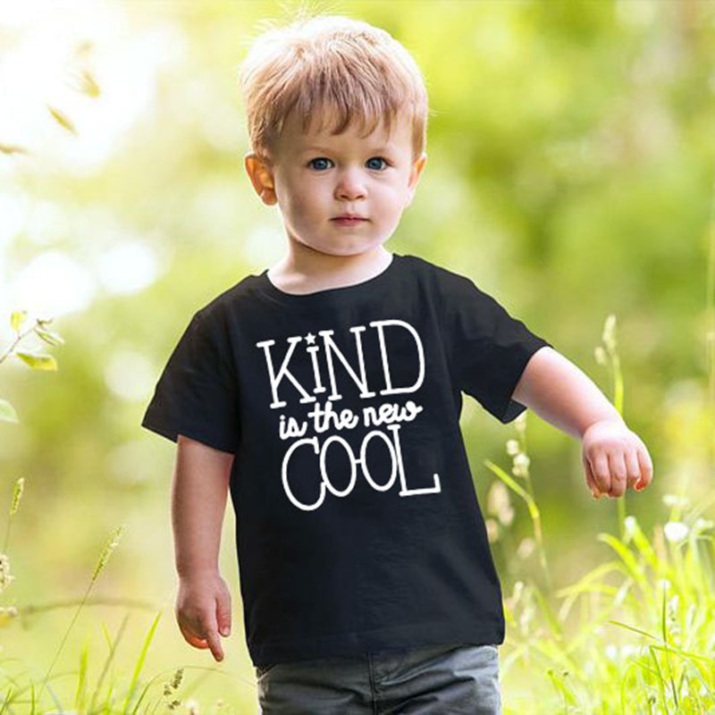 Kind In The New Cool Kids Tshirt Funny Toddler Boy Girl Short Sleeve T-shirt Tops Casual Children O-neck Tees Clothes Outfit