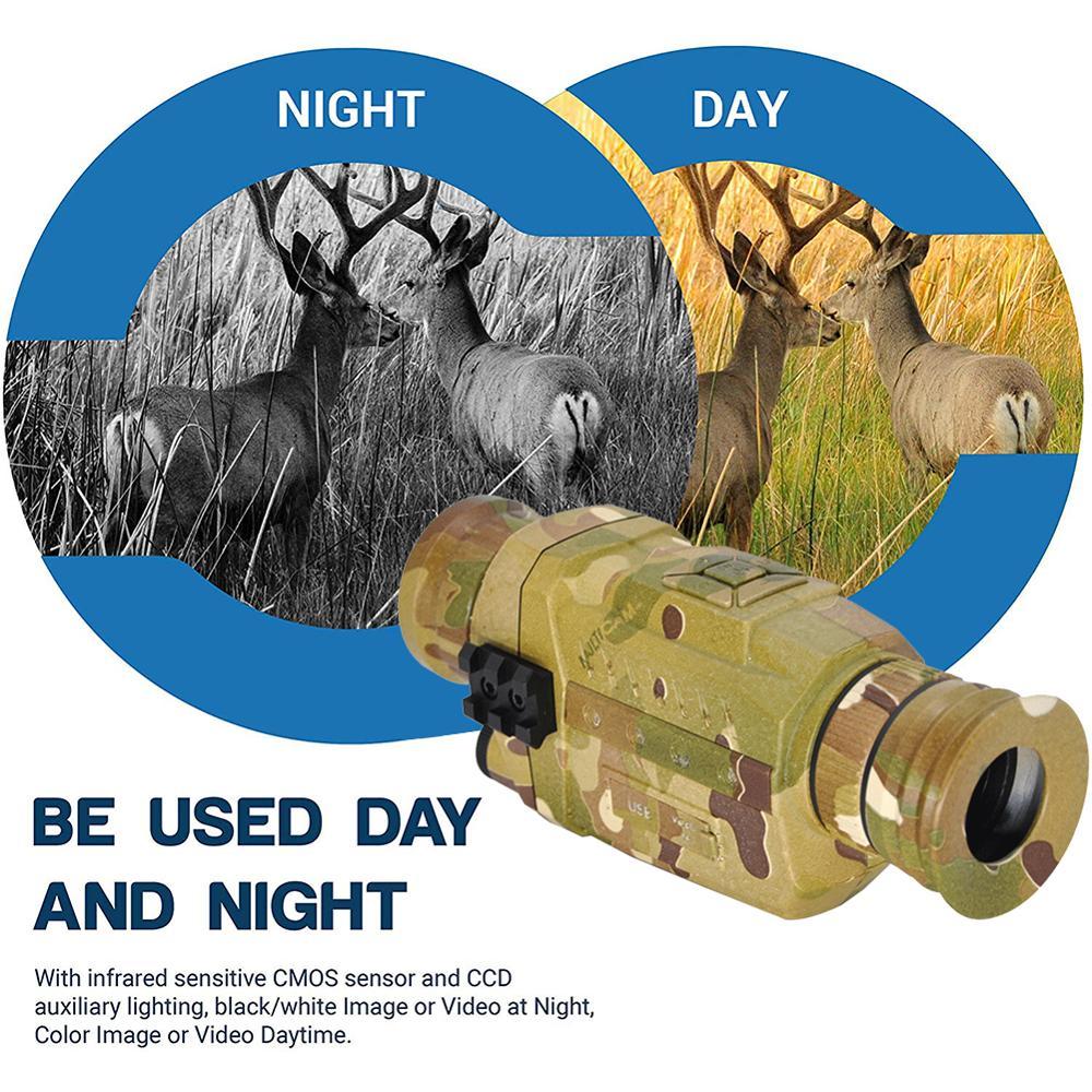 Ночного видения Монокуляр 5X инфракрасная цифровая камера видео 200 м Диапазон для наружного охоты кемпинга используется для съемки фотограф... - 5