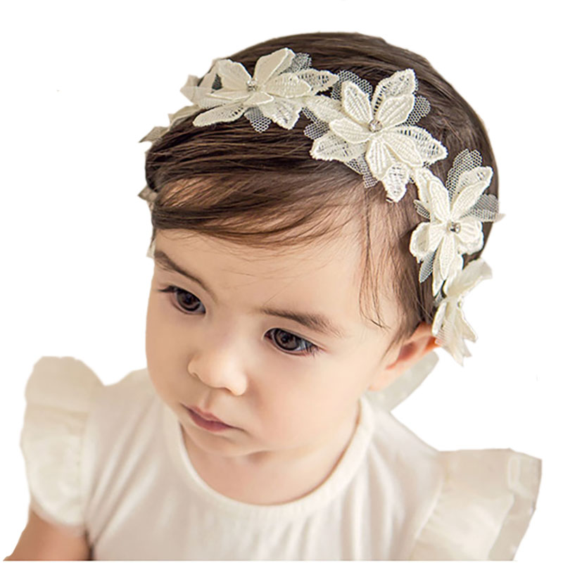 Lace Baby Headband Crown Flower Baby Girl Headband Newborn Hairband Children Headband Baby Hair Accessories