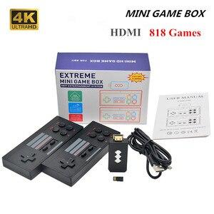 New 4K HDMI Video Game Console Built in 620/818 Classic Games Retro Console Two Wireless Controller AV/HDMI Output Mini game box