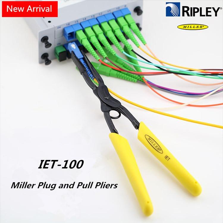Original Imported Miller IET-100 Fiber Optic Connector Plug And Clamp Pull Tool IET Pilers Fiber Optic Room Tools New Arrival