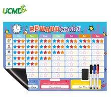 Детский ежедневный календарь расписание с 150 магнитами на холодильник