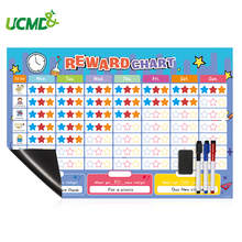 Kids Daily Calendar Schedule with 150 Fridge Magnets Reward Responsibility Behavior Chore Chart Children Educational Tools Toys