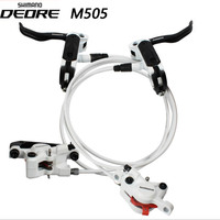 Spor ve Eğlence'ten Bisiklet Freni'de Shimano MTB dağ bisikleti hidrolik disk fren Deore XT fren ALIVIO M395 505 bisiklet disk fren bisiklet aksesuarları parçaları