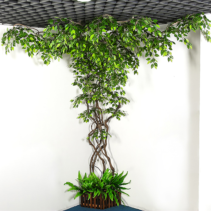 Artificial Plant Simulation Plant Vines Rattan Leaves Eucalyptus  Mango LEAVES Home Decoration Hotel Living Room Decoration