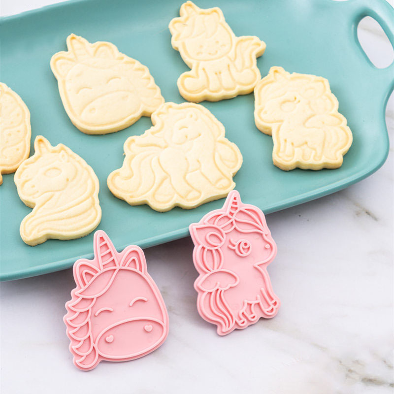 My Little Pony Set Of Cookie Cutters 3d Cartoon Mold Plastic Pressing Fun Baking Molding Unicorn Cookie Mould