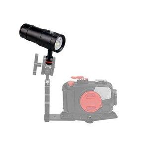 Image 4 - Lampe de plongée sous marine, 100M 2350lm, étanche XM LED, éclairage blanc/rouge/UV pour photographie et vidéo + batterie 32650