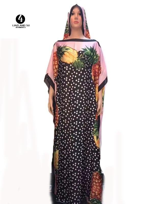 Length :145 Cm Bust: 100 Cm Italian Kaftan Silk Dress Fashion Halloween Evening Party Dress African Dresses For Women