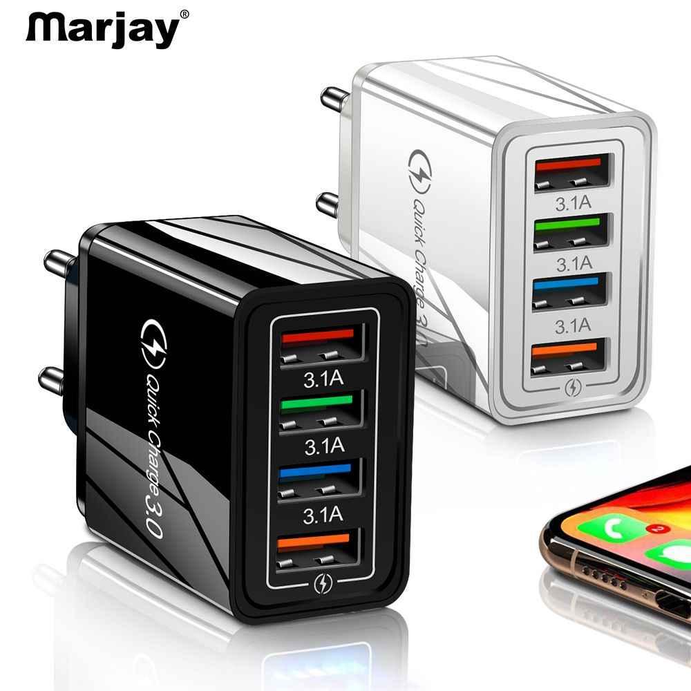 Cargador de teléfono móvil cargador USB carga rápida 3,0 4,0 QC3.0 carga rápida para iPhone X Samsung Xiaomi Huawei Tablet adaptador de pared