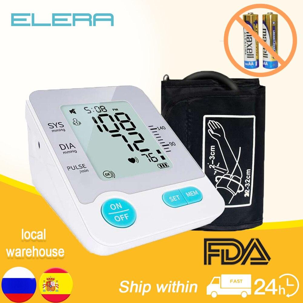 Цифровой тонометр на руку, Портативный Автоматический Сфигмоманометр для измерения артериального давления