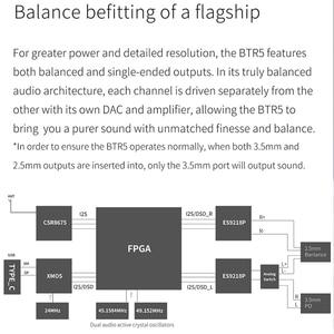 Image 4 - Fiio BTR5 ES9218P USB DAC Bluetooth 5.0 amplificatore per cuffie amplificatore ricevitore 3.5/2.5mm uscita AAC SBC aptX LDAC amplificatore Audio per auto
