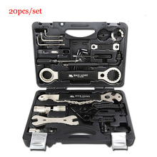Alloy 18 In 1 Bicycle Repair Tools Kit Box Set Multi MTB Tire Chain Repair Tools Spoke Wrench Kit Hex Screwdriver Bicycle Tools bicycle master link plier valve tool tire lever missing link box pack pliers 4 in 1 multi function tools cnc aluminum alloy s24