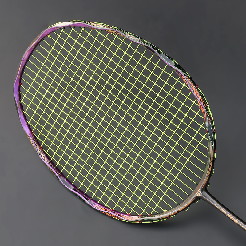 Professional T700 Carbon Fiber Badminton Rackets Light 4U With String Bag Max Tension 30LBS Offensive Type Racket Padel Original