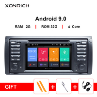 IPS 1 Din Android 9.0 Car DVD multimedia Player For BMW X5 E53 E39 5 Series stereo audio GPS navigation screen head unit DSP 4G