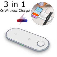 3 in 1 Wireless Charger for iPhone 11Pro/Xr/Xs Max Charger Holder for Samsung S20 S10 Qucik Charge Pad QI Fast Wireless Charger