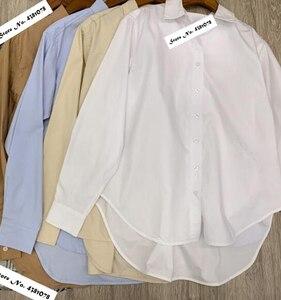 Image 2 - נשים חולצה אביב קיץ פשוט חולצה חדש החבר סגנון קלאסי צללית מוצק חולצות