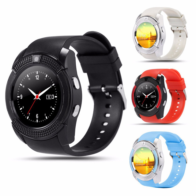 v8 Smart Watch sim card Men camera rounded Answer Call Dial Call Smartwatch android Fitness Tracker Sport
