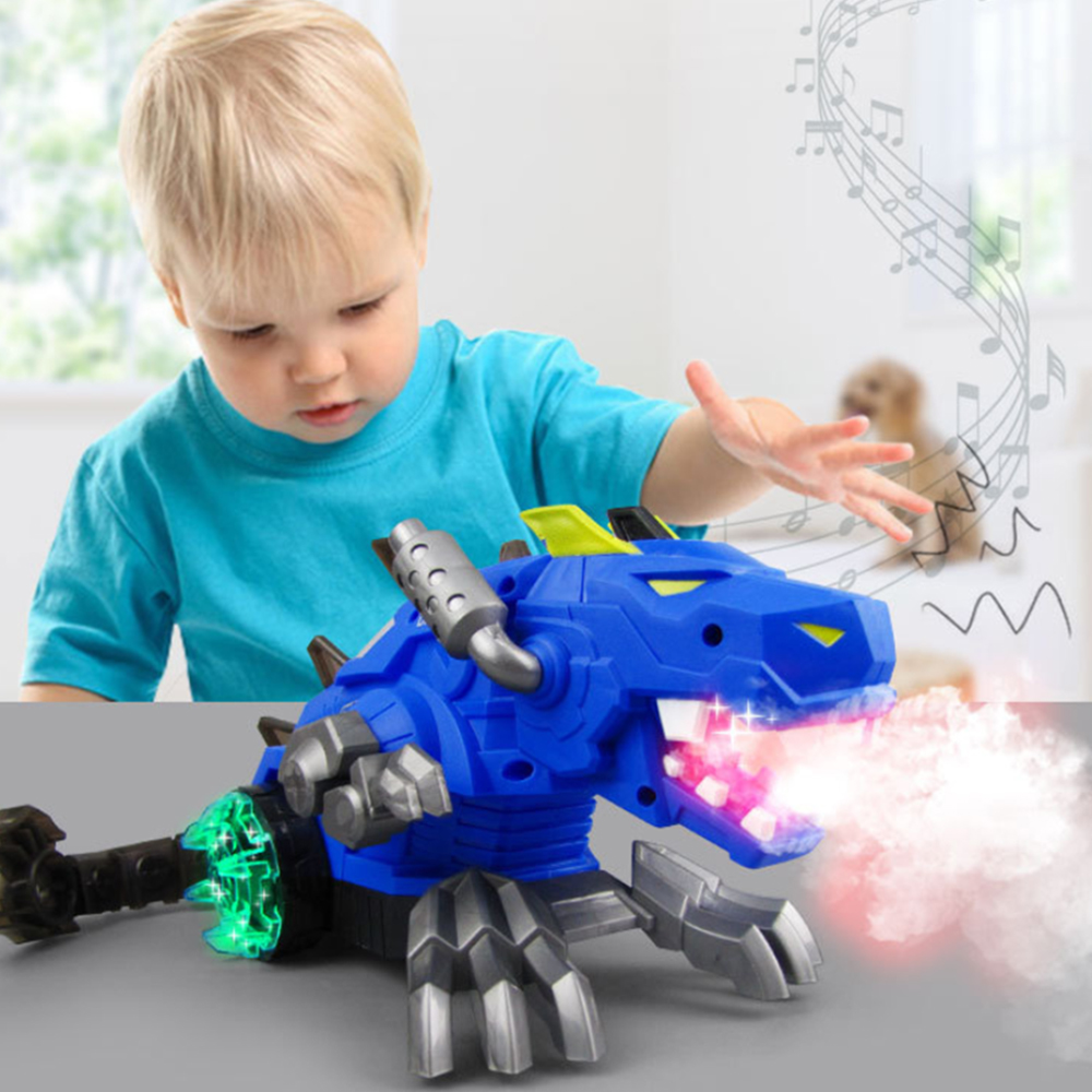 Electric Spray Dinosaur Toy  Kids Universal Simulation Toy With Sound Light Musical Dinosaur Toy Casual Educational Boy Toys