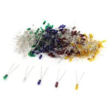 100 шт, толщина 3 мм, 12V Мини зерна пшеницы лампы смешанные Цвет красный/желтый/синий/зеленый/белый MP02