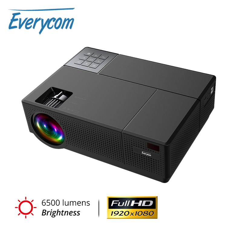 Everycom M9 CL770 Native 1080P Full HD 4K Projector LED Multimedia System Beamer 6500 Lumens HDMI*2 Auto Keystone Home CinemaLCD Projectors   -