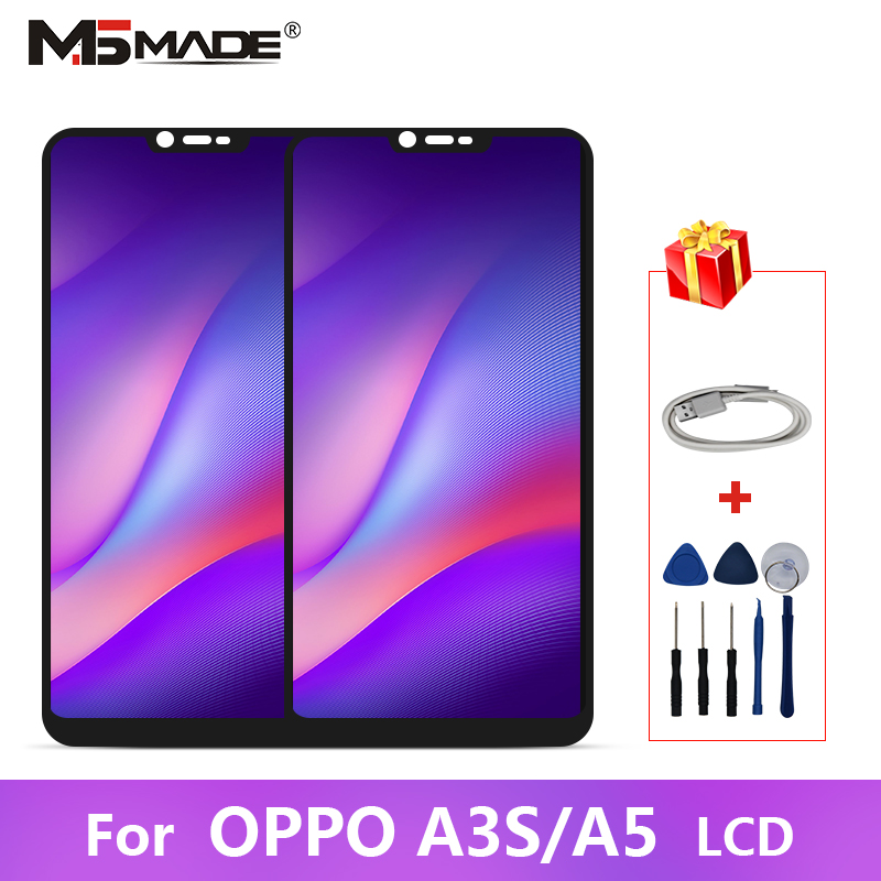 For <font><b>OPPO</b></font> A3S <font><b>LCD</b></font> <font><b>A5</b></font> CPH1385 CPH1803 <font><b>LCD</b></font> Display Touch Screen Digitizer Replacement Parts For <font><b>OPPO</b></font> A2 Pro Display With Frame image