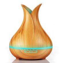 400ml Wood Grain Aromatherapy Machine Humidifier Diffuser Incense Burner Vase Petal Flavoring