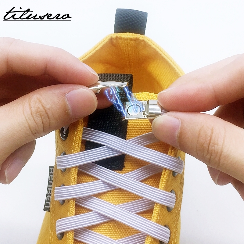 New No Tie Elastic Shoelaces Magnetic Lock Quick Shoe Laces Kids Adult Unisex Shoelace Sneakers Shoe Laces Strings F103