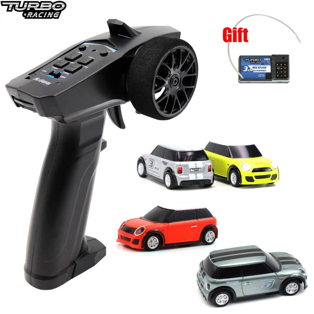 Turbo 1:76 emballant la Mini voiture de course de voiture de RC avec l'émetteur 2.4GHz 91803G-VT 3CH emballant la nouvelle voiture de brevet d'expérience pour des jouets d'enfants