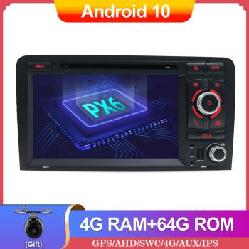 PX6 Autoradio Car Stereo Android 10 For Audi A3 8P 2003-2012 S3 2006-2012 RS3 2011 DVD GPS Carplay Wifi DAB 4GB+64GB image