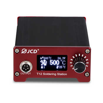 JCD T12 Soldering Station Home DIY Temperature Control Electronic Welding Iron Tips Handle Aluminum Alloy Case Power Equipments