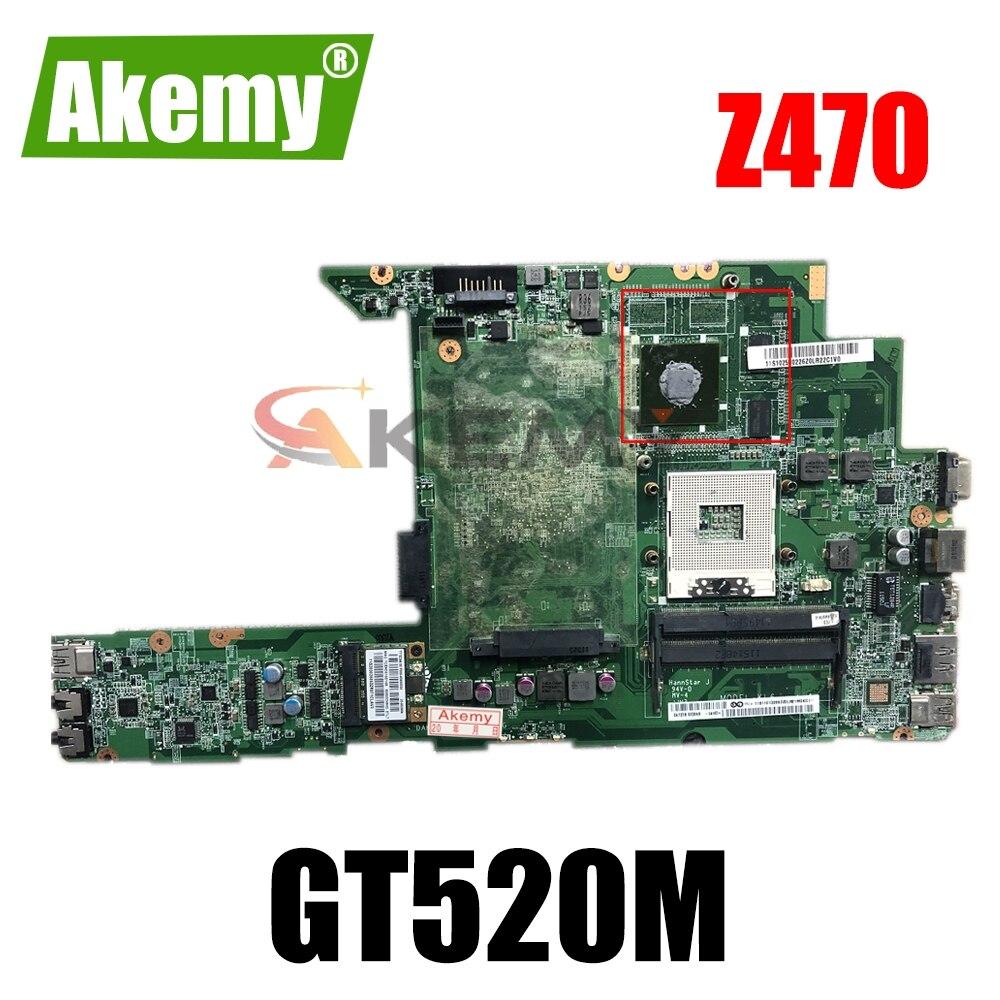 Материнская плата для ноутбука LENOVO Ideapad Z470 GT520M, материнская плата DA0KL6MB8G0 N12P-GV1-A1 HM65 DDR3