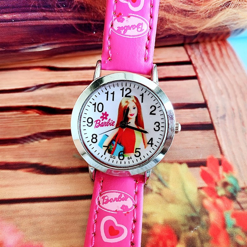 New Cute Children's Cartoon Barbie Belt Quartz Watch Girls Watch
