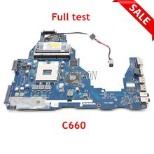 NOKOTION Laptop Motherboard For Toshiba Satellite C660 K000124370 PWWHA LA 7202P HM65 DDR3 GMA HD3000 Main Board full tested
